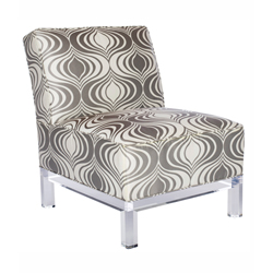 Martini Slipper Chair with Vixen Textile