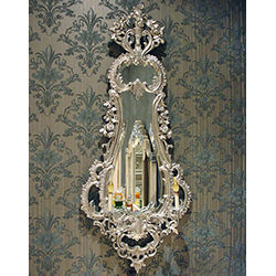 Pair of Silver Leaf Sconce Mirrors