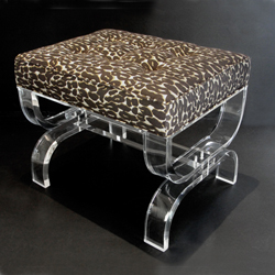 Mambo Bench with Leopard Brocade