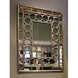 Large Octagonal Grille Mirror